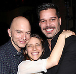 Elena Roger with Michael Cerveris & Ricky Martin.attending the Broadway Opening Night Actors' Equity Gypsy Robe Ceremony for recipient Matt Wall in 'EVITA' at the Marquis Theatre in New York City on 4/6/2012