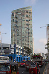 High rise buildings and traffic on Galle Road, Colombo, Sri Lanka, Asia