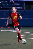 Rochester, NY - Saturday May 21, 2016: Western New York Flash midfielder Samantha Mewis (5). The Western New York Flash defeated Sky Blue FC 5-2 during a regular season National Women's Soccer League (NWSL) match at Sahlen's Stadium.