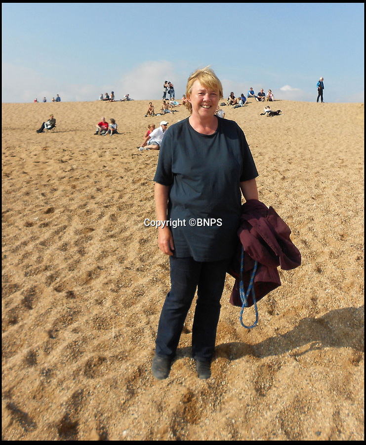 BNPS.co.uk (01202 558833)Pic:  BNPS<br /> <br /> Pauline Quirke during filming for Broadchurch.<br /> <br /> Broadchurch star Pauline Quirke is selling her seaside flat in the exclusive complex that doubled as the police station in the hit TV crime drama.<br /> <br /> The London actress bought the penthouse apartment in West Bay, Dorset, during the filming of the second season of Broadchurch in 2014.<br /> <br /> Quirke, 59, played the shifty character of Susan Wright in the ITV whodunnit series that was based in the seaside town.<br /> <br /> She has used the flat as a holiday home since then but has now put its on the market.
