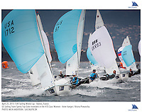 Hyeres, France, 20130425: ISAF SAILING WORLD CUP - approx 900 sailors compete in all the Olympic boat classes at the last event on the 2012/2013 World Cup. 470 W - USA - Annie Haeger / Briana Provancha. Photo: Mick Anderson/SAILINGPIX..Note: High-res TIFFs availble upon request.