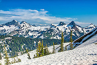 Above the snow line on Mount Rainier on a gorgeous Pacific Northwestern summer day.