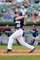 New Orleans Zephyrs designated hitter Matt Diaz #23 during a game against the Round Rock Express on April 15, 2013 at Zephyr Field in New Orleans, Louisiana.  New Orleans defeated Round Rock 3-2.  (Mike Janes/Four Seam Images)