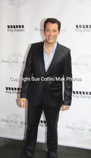 John Tartaglia at 69th Annual Theatre World Award Ceremony arrivals on June 3, 2013 at the Music Box Theatre, New York City, New York. (Photo by Sue Coflin/Max Photos)