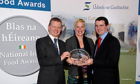Blas na h&Eacute;ireann Awards 2008<br /> <br /> Maja Binder from Dingle Peninsula Cheese who received the Blas na hEireann National Food and Drink awards Supreme Champion  Gold award on Sunday at the annual Dingle Peninsula Food and Wine Festival. Presenting  the award is Minister of Food, Trevor Sargent and Richie Quaid, Supervalu Dingle. <br /> <br /> The awards are the first of their kind in Ireland and attracted up to 800 entries from producers all over the country.<br /> <br /> Picture: MacMonagle, Killarney<br /> <br />  <br /> <br /> <br /> &copy; Photo by Don MacMonagle - macmonagle.com<br /> info@macmonagle.com