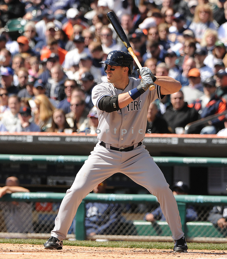 New York Yankees Travis Hafner (33)  during a game against the Detroit Tigers on April 5, 2013 at Comerica Park in Detroit, MI. The Tigers beat the Yankees 8-3.