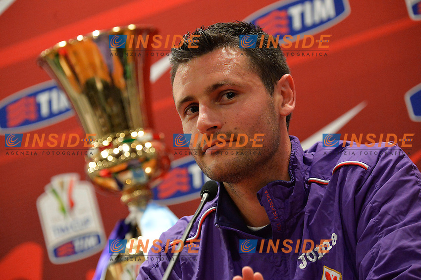 Manuel Pasqual Fiorentina <br /> Roma 02-05-2014 Stadio Olimpico <br /> Conferenza Stampa finale Coppa Italia Fiorentina - Napoli <br /> Foto Andrea Staccioli Insidefoto
