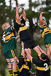 Under pressure from J. Chipman & M. Leavua N. Tupuhi still manages to secure lineout ball.  Counties Manukau Premier club rugby game between Bombay & Pukekohe played at Bombay on the 19th of May 2007. Pukekohe led 24 - 0 at halftime & went on to win 30 - 22.