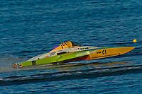 """Nicky Pellerin, E-61 """"Crazy Cajun"""", 5 Litre class hydroplane"""