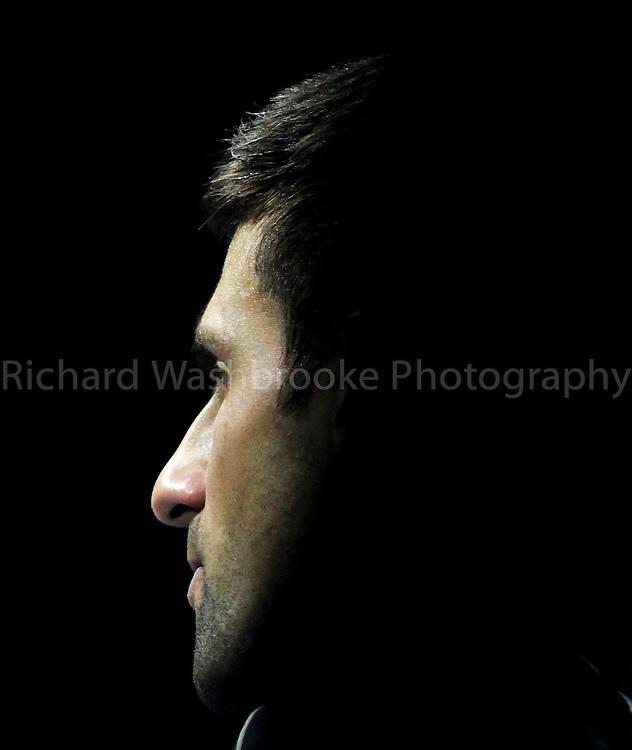 Barclays ATP World Tour Finals 2013<br /> <br /> Novak Djokovic (SRB) beat Juan Martin Del Potro (ARG)  6:3  3:6  6:3<br /> <br /> Wednesday 7th November 2013<br /> <br /> Photo: Richard Washbrooke Sports Photography<br /> Barclays ATP World Tour Finals 2013<br /> <br /> Wednesday 7th November 2013<br /> <br /> Photo: Richard Washbrooke Sports Photography