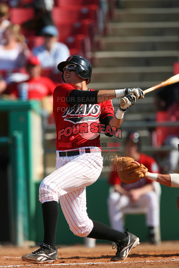 April 26 2009: Alex Liddi of the High Desert Mavericks during game against the San Jose Giants at Mavericks Stadium in Adelanto,CA.  Photo by Larry Goren/Four Seam Images