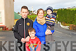 Mountcollins 5k run/walk fundraising event.  All proceeds will go to the Ray of Sunshine foundation to help local volunteers Patrick Lenihan, Mary Barry and Seamus Hickey who will be travelling to Kenya to help build schools.  Pictured here L-R Patrick Lane, Stephen McNamara, Norma Brosnan and Cian Brosnan all of Abbeyfeale.