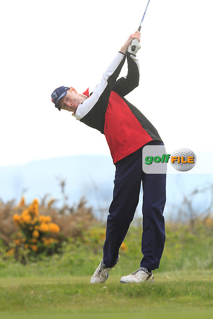 Seamus Cullen (Slieve Russell) on the 15th tee during Round 3 of the Irish Amateur Open Championship at Royal Dublin on Saturday 9th May 2015.<br /> Picture:  Thos Caffrey / www.golffile.ie