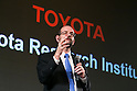Toyota's Executive Technical Advisor Dr. Gill Pratt speaks during a news conference on November 6, 2015, Tokyo, Japan. Akio Toyoda President of Toyota Motor Corporation announced that Toyota would start a new company Toyota Research Institute (TRI) in Silicon Valley, USA, which will focus on Artificial Intelligence and robotics. Dr. Gill will be the Chief Executive Officer of the new company which will begin operations in January 2016. (Photo by Rodrigo Reyes Marin/AFLO)