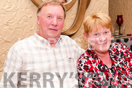 45th Wedding Anniversary: Jim & Breda Burke, Lisroe, Duagh celebrating their 45th wedding anniversary at Eabha Joan's Restaurant on Saturday nigh last.