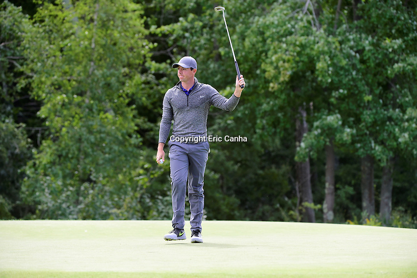 Monday, September 5, 2016:  Rory McIlroy of Northern Ireland acknowledges fans on the 18th green during the final round of the Deutsche Bank Championship tournament held at the Tournament Players Club, in Norton, Massachusetts.  Rory McIlroy of Northern Ireland wins the Deutsche Bank Championship with a final tournament score of -15 269.   Eric Canha/Cal Sport Media