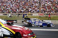 Jul. 20, 2014; Morrison, CO, USA; NHRA funny car driver  Robert Hight during the Mile High Nationals at Bandimere Speedway. Mandatory Credit: Mark J. Rebilas-