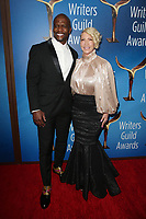 BEVERLY HILLS, CA - FEBRUARY 11:  Terry Crews and Rebecca King-Crews at the 2018 Writers Guild Awards L.A. Ceremony at The Beverly Hilton Hotel on February 11, 2018 in Beverly Hills, California. <br /> CAP/MPI/FS<br /> &copy;FS/MPI/Capital Pictures