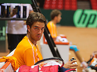 09-09-13,Netherlands, Groningen,  Martini Plaza, Tennis, DavisCup Netherlands-Austria, DavisCup,   Jesse Huta Galung (NED)<br /> Photo: Henk Koster