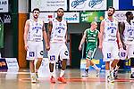 S&ouml;dert&auml;lje 2014-03-25 Basket SM-kvartsfinal 1 S&ouml;dert&auml;lje Kings - J&auml;mtland Basket :  <br /> J&auml;mtlands Stefan Hellgren , Adama Darboe och Andreas Karlsson <br /> (Foto: Kenta J&ouml;nsson) Nyckelord:  S&ouml;dert&auml;lje Kings SBBK J&auml;mtland Basket SM Kvartsfinal Kvart T&auml;ljehallen depp besviken besvikelse sorg ledsen deppig nedst&auml;md uppgiven sad disappointment disappointed dejected