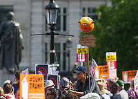 Protest in London as Donald Trump visits the UK on 13 July 2018. Photo by Vince  Mignott.