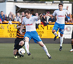Jon Daly gets the ball into the net but assistant refLoraine Clark flags the big striker for offside