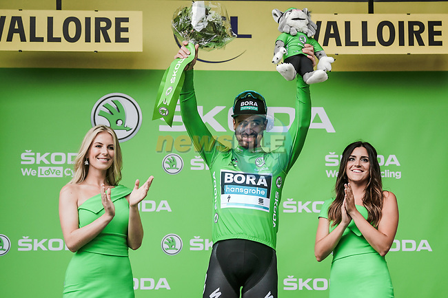 Peter Sagan (SVK) Bora-Hansgrohe retains the points Green Jersey at the end of Stage 18 of the 2019 Tour de France running 208km from Embrun to Valloire, France. 25th July 2019.<br /> Picture: ASO/Pauline Ballet | Cyclefile<br /> All photos usage must carry mandatory copyright credit (© Cyclefile | ASO/Pauline Ballet)