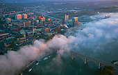 Morning fog over Knoxville and Tennessee River