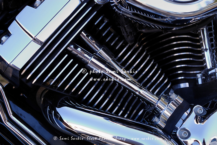 Chromed motorbike engine