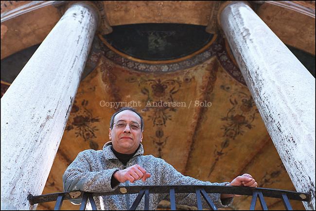 Claudio Piersanti photographed in Rome.