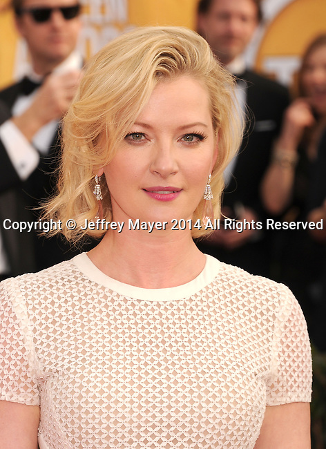 LOS ANGELES, CA- JANUARY 18: Actress Gretchen Mol arrives at the 20th Annual Screen Actors Guild Awards at The Shrine Auditorium on January 18, 2014 in Los Angeles, California.