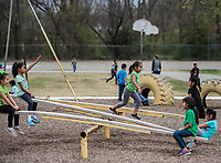 NWA Democrat-Gazette/ANTHONY REYES @NWATONYR<br /> Students play at recess Friday, March 17, 2017 at Lee Elementary School in Springdale.