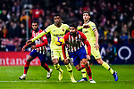Diego Costa of Atletico de Madrid (R) in action during the La Liga 2018-19 match between Atletico Madrid and FC Barcelona at Wanda Metropolitano on November 24 2018 in Madrid, Spain. Photo by Diego Souto / Power Sport Images