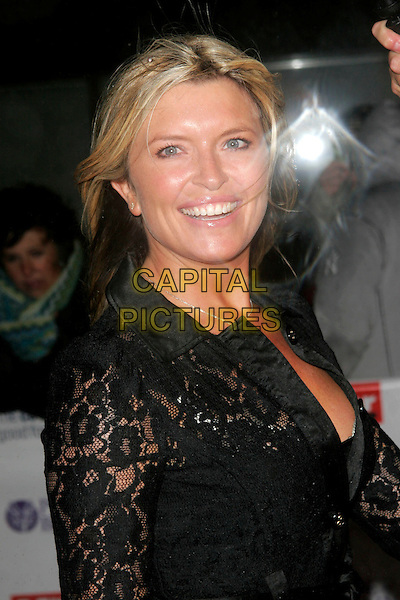 TINA HOBLEY.The Pride of Britain Awards, London Television Centre, South Bank, London, England, UK, .September 30th, 2008 .half length black lace .CAP/AH.©Adam Houghton/Capital Pictures.
