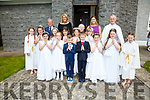 Pupils from Aghatubrid NS who made their First holy Communion on Saturday in St Joseph's Church, Aghatubrid were front l-r; Claire Murphy, Hannah Comyn, Cathal McCrohan, Liam O;Neill, Emma O'Neill, Katelyn Kelly, Cara McCrohan(Server), middle l-r; Ella Sheehan(Server), Muireann Teahan, Sadhbh O'Sullivan, Breda Marie Kelly, Alicia Kelly, Iona Donald, back l-r; Billy Enright, Sinead Clifford O'Sullivan(Principal), Mary O'Mahony, Louise O'Shea(Teacher) & Fr. Larry Kelly.