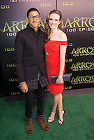 VANCOUVER, BC - OCTOBER 22: Keiynan Lonsdale and Danielle Panabaker at the 100th episode celebration for tv's Arrow at the Fairmont Pacific Rim Hotel in Vancouver, British Columbia on October 22, 2016. Credit: Michael Sean Lee/MediaPunch