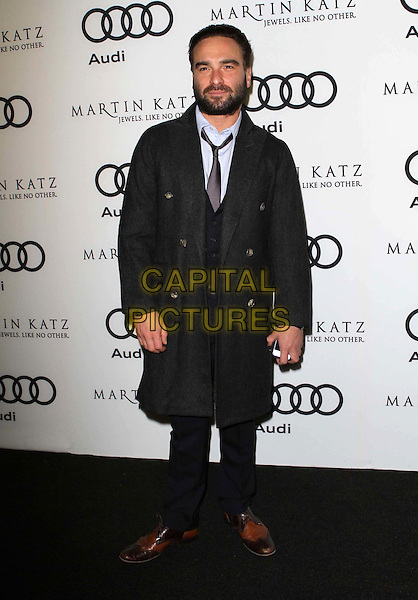 Johnny Galecki.Audi And Martin Katz Kick Off Golden Globes Week 2012 Held At Cecconi's Restaurant, West Hollywood, California, USA..January 8th, 2012.full length coat beard facial hair grey gray blue black.CAP/ADM/KB.©Kevan Brooks/AdMedia/Capital Pictures.