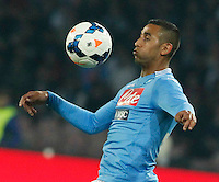 Faouzi Ghoulan   in action during the Italian Serie A soccer match between SSC Napoli and Juventus FC   at San Paolo stadium in Naples, March 30 , 2014