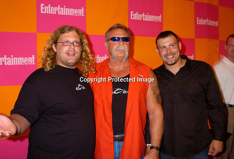 "MIke Tuetul, Paul Tuetul,Sr and Paul Tuetul, Jr of American Chopper ..at The Entertainment Weekly's ""The Must List"" party at ..Crobar in New York City on June 17, 2004. ..Photo by Robin Platzer, Twin Images"