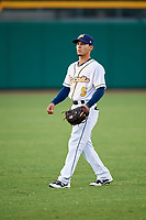 Montgomery Biscuits shortstop Andrew Velazquez (5) before a game against the Mississippi Braves on April 24, 2017 at Montgomery Riverwalk Stadium in Montgomery, Alabama.  Montgomery defeated Mississippi 3-2.  (Mike Janes/Four Seam Images)