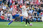 Atletico de Madrid's Diego Godín and Sevilla's Stevan Jovetic during La Liga match between Atletico de Madrid and Sevilla CF at Vicente Calderon Stadium in Madrid, Spain. March 19, 2017. (ALTERPHOTOS/BorjaB.Hojas)