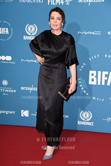LONDON, UK. December 02, 2018: Olivia Colman at the British Independent Film Awards 2018 at Old Billingsgate, London.<br /> Picture: Steve Vas/Featureflash