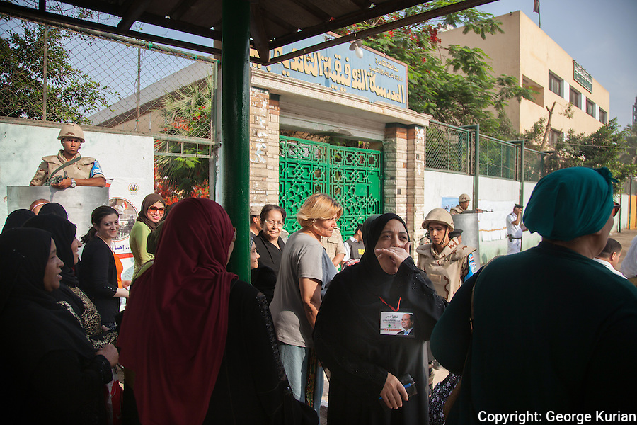 Polling station in Shubra, Cairo<br />