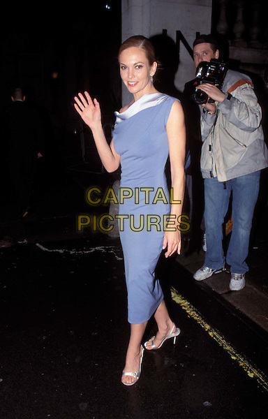 DIANE LANE - DIANA LANE..Ref: 11731..long blue dress, waving, white collar..www.capitalpictures.com..sales@capitalpictures.com..©Capital Pictures..full length, full-length