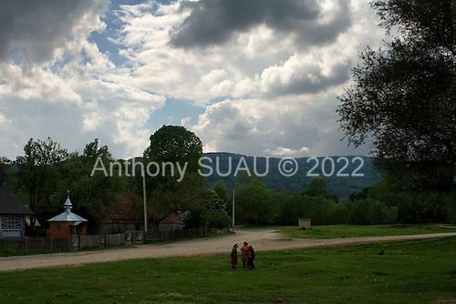 Galivka, Ukraine.June 1, 2005 ..A small village very close to the Polish border. .