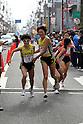 (L-R) Azusa Nojiri, Misaki Katsumata (Dai-Ichi Life), NOVEMBER 3, 2011 - Ekiden : East Japan Industrial Women's Ekiden Race at Saitama, Japan. (Photo by Toshihiro Kitagawa/AFLO)