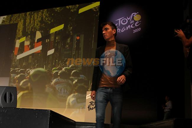 Romain Bardet (FRA) at the Tour de France 2020 route presentation held in the Palais des Congrès de Paris (Porte Maillot), Paris, France. 15th October 2019.<br /> Picture: ASO/Thomas Colpaert | Cyclefile<br /> <br /> All photos usage must carry mandatory copyright credit (© Cyclefile | ASO/Thomas Colpaert)