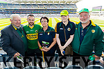 Attending the Kerry v Mayo all Ireland semi-final re-play in Croke Park, on Saturday last, were l-r: Mike Allen (Firies, Killarney), Pat Slattery (Tralee) with Noreen Reen Laura Reen and Denis Reen (Rathmore).