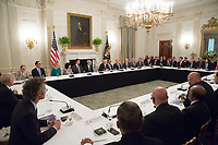 United States President Donald J. Trump participates in an American Technology Council roundtable with corporate and eduction leaders at The White House in Washington, DC, June 19, 2017. <br /> Credit: Chris Kleponis / CNP /MediaPunch