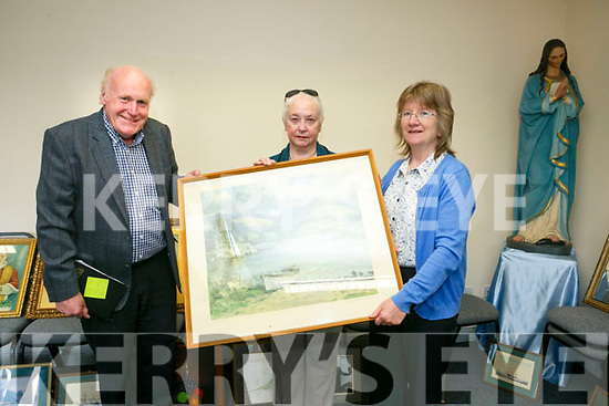 Old Presbytery Ardfert, Sale of old and historical religious items on Sunday pictured Fr. Liam Comer , Maureen Hanafin and Sheila Dwyer
